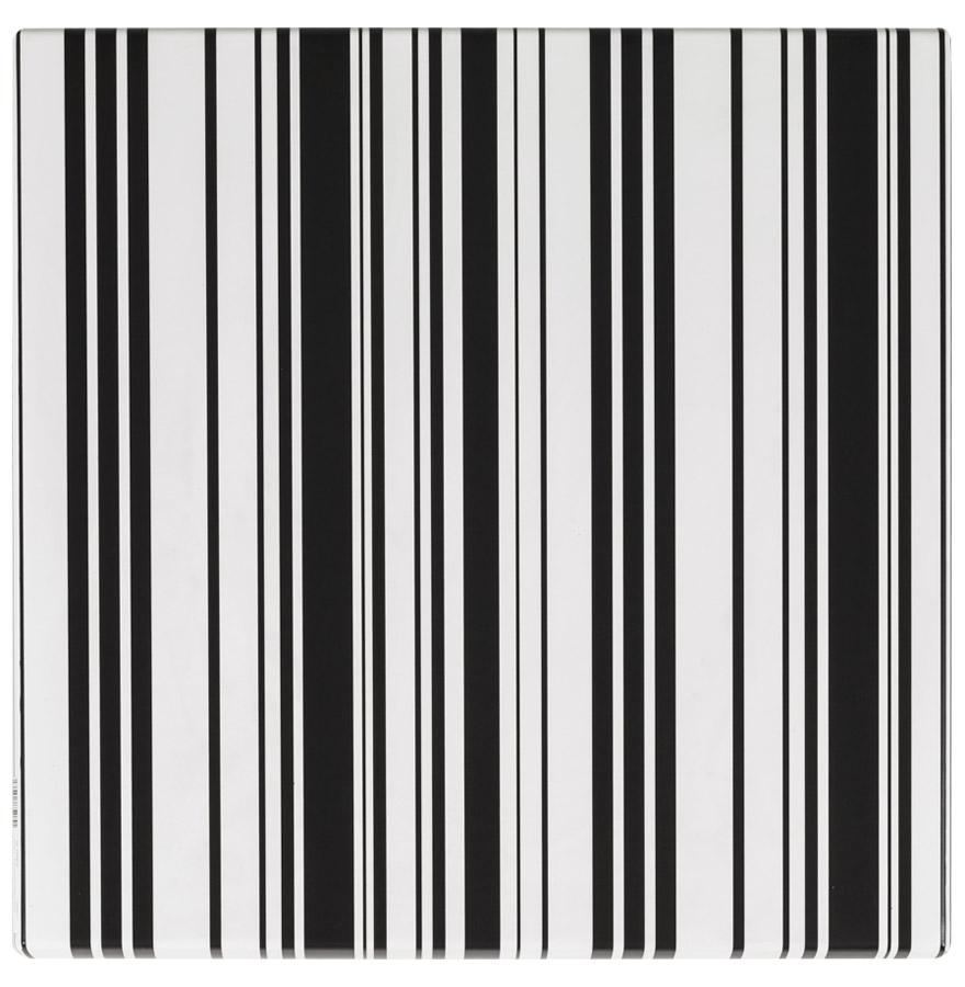 Plateau de table 39 barcod 39 carr 60x60 en bois et r sine for Table exterieur 60x60