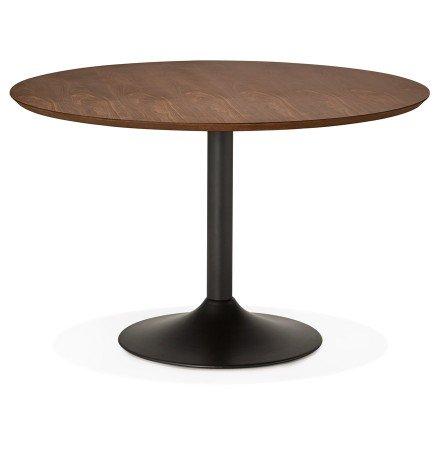 Table à diner/de bureau ronde 'CHEF' en bois finition Noyer - Photo 1