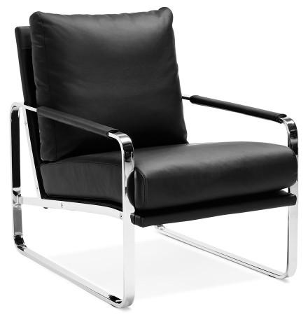 Fauteuil lounge GEORGE noir confortable - Alterego