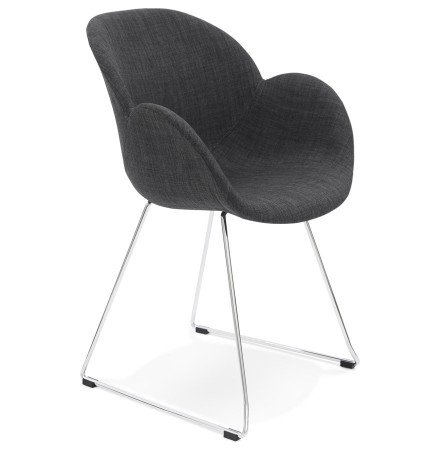 Chaise design JUMBO grise foncee en tissu - Alterego