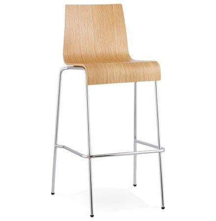 Chaise haute KWATRO en bois naturel - Alterego