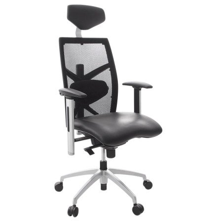 Fauteuil de bureau ergonomique 'TOKYO' en similicuir noir