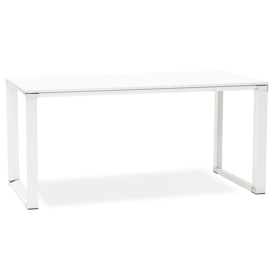 bureau de direction design xline en bois blanc bureau droit. Black Bedroom Furniture Sets. Home Design Ideas
