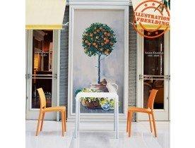 Chaise design 'ENZO' orange