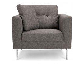 Fauteuil de salon 1 place 'SIXTY MINI' en tissu gris très moderne