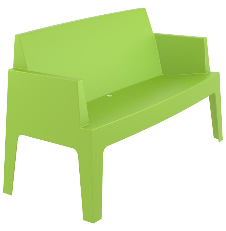 Banc de jardin 39 plemo xl 39 vert en mati re plastique ebay for Banc de jardin en plastique
