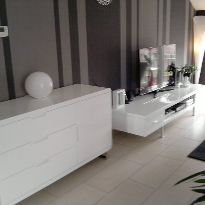 meuble de rangement bahu bahut design blanc en bois. Black Bedroom Furniture Sets. Home Design Ideas