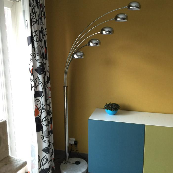lampadaire 5 branches five bows noir lampadaire design. Black Bedroom Furniture Sets. Home Design Ideas