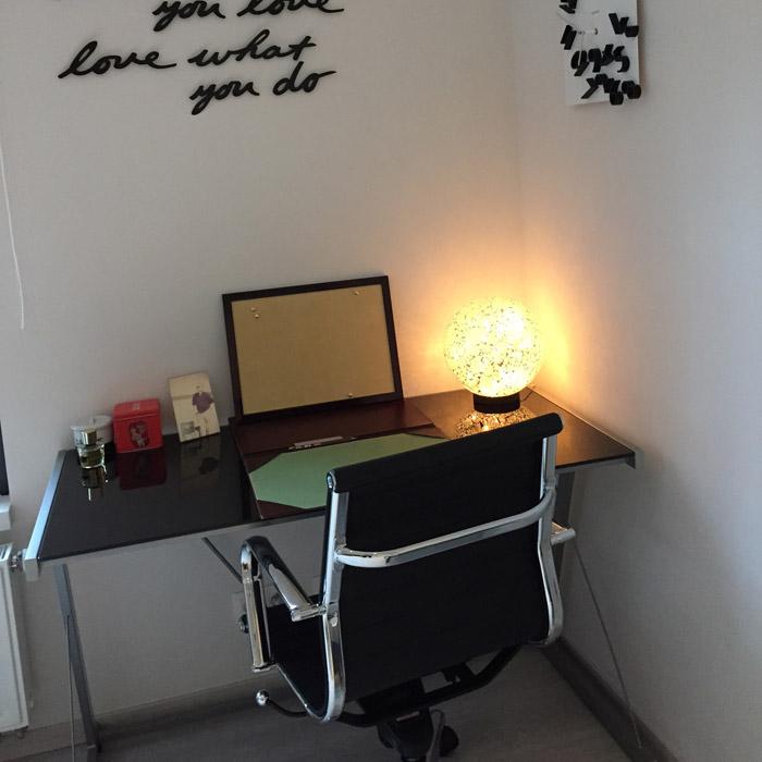 Bureau droit QWERTY - Alterego Design - Photo 2