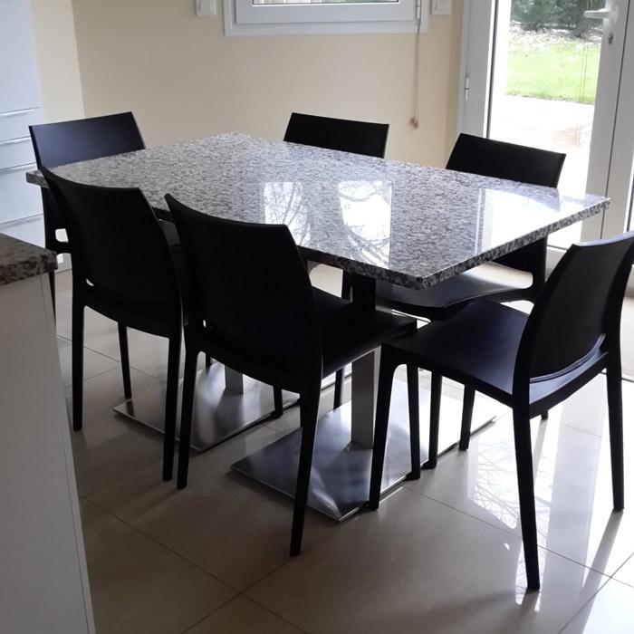 chaise design enzo chaise moderne grise en mati re plastique. Black Bedroom Furniture Sets. Home Design Ideas