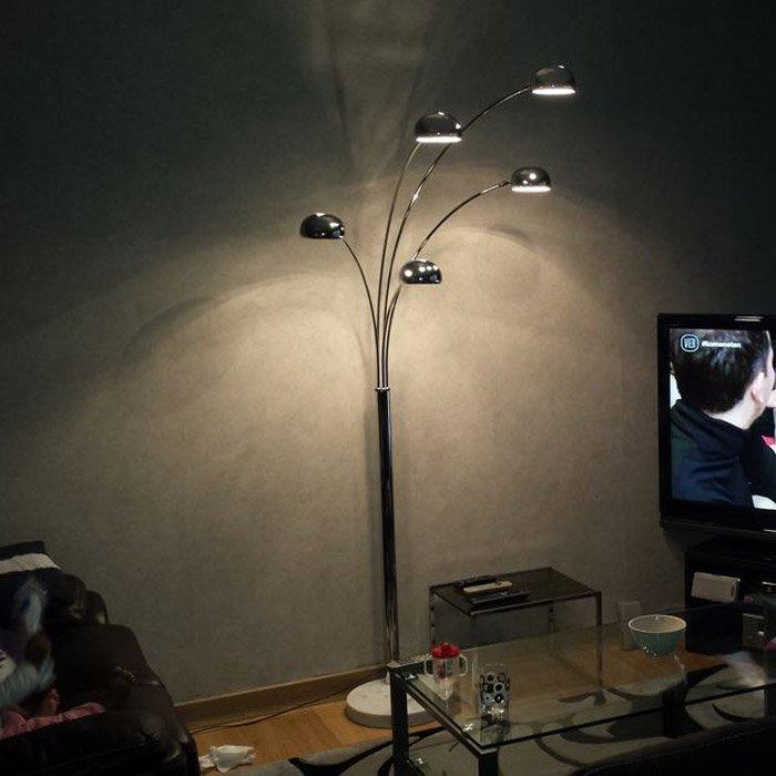 lampadaire 5 branches five bows multicouleurs lampadaire. Black Bedroom Furniture Sets. Home Design Ideas