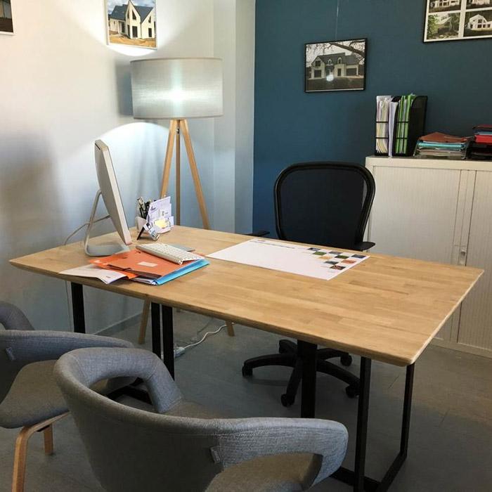 Design tafel titus van natuurlijk hout modern bureau 150x70 cm - Deco natuurlijk hout ...