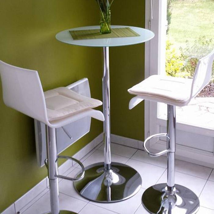 table haute bar xena mange debout verre transparent table design. Black Bedroom Furniture Sets. Home Design Ideas