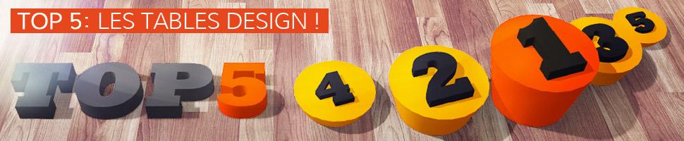 Les tables design - TOP 5