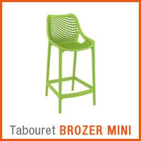 Meuble de jardin Alterego - Tabouret BROZER MINI